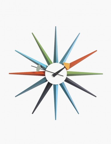 Neison Sunburst Clock