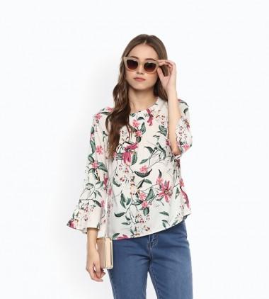 Floral Loos Top